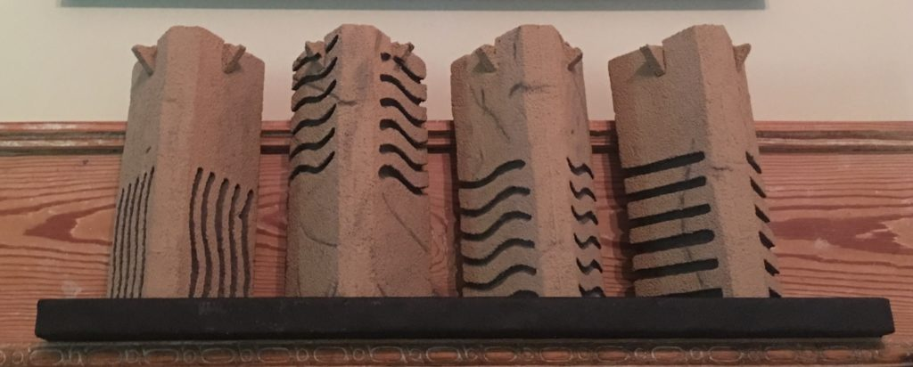 Completed Elementa Stone Replica Set on Fireplace Mantle